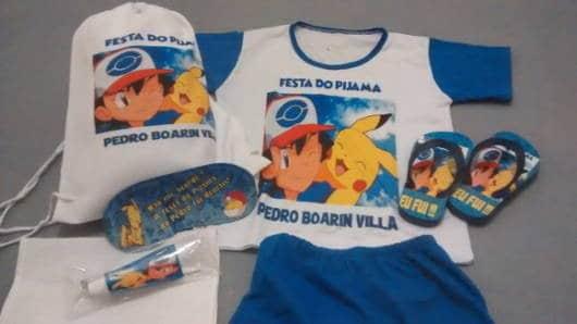 Veja um kit completo com pijama personalizado para festa do pijama