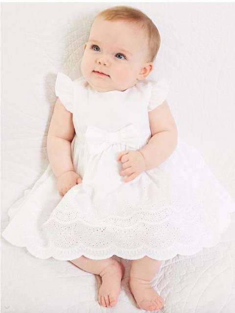 vestido de algodão para batizado