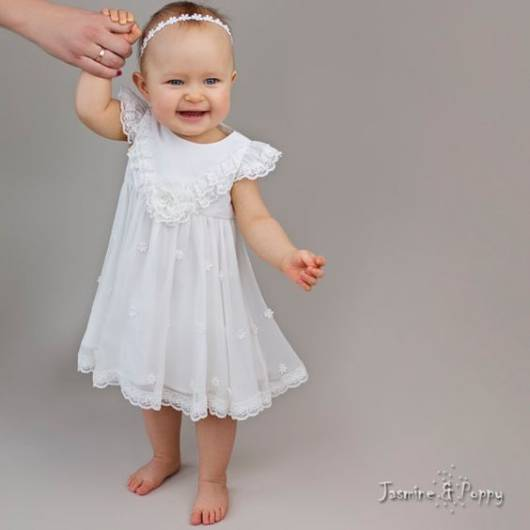 vestido delicado batizado