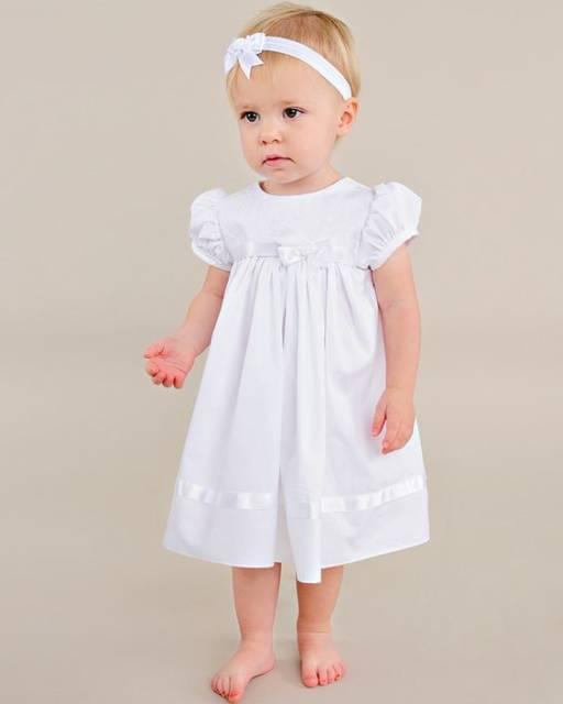 vestido simples batizado