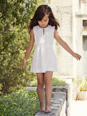 vestido menina simples
