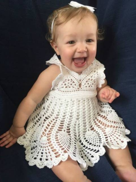 vestido bebê ponto abacaxi