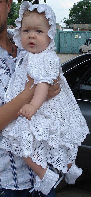 vestido de crochê para batizado