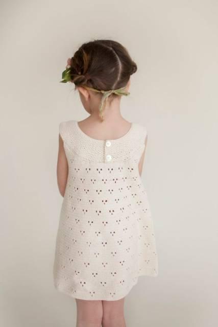 vestido de crochê menina