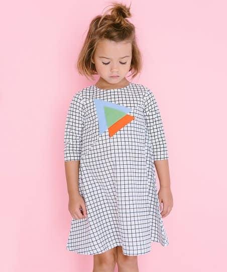 vestido moderno infantil xadrez
