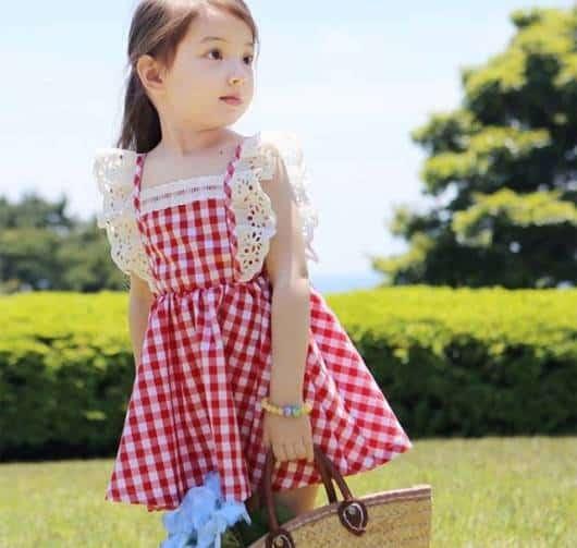 vestido xadrez camponesa