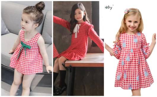 Há vestidos xadrez podem ser usados no frio e no calor