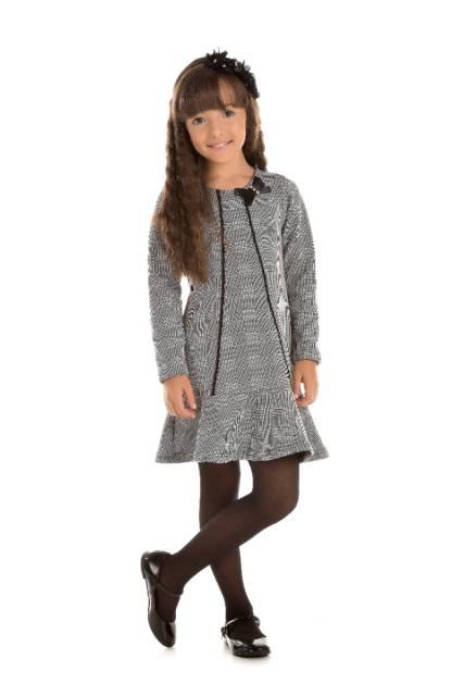 Veja look de inverno com vestido xadrez infantil de manga longa