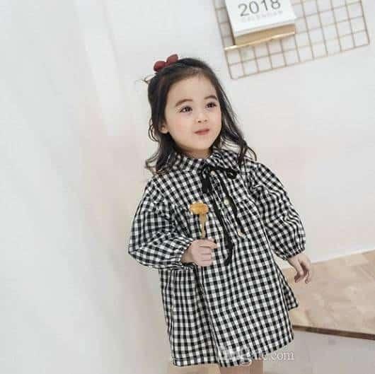 Vestido perfeito para o inverno xadrez preto e branco