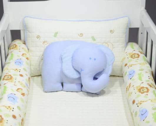 kit berço safari azul