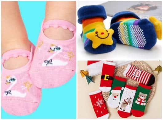 Não esqueça de incluir as meias no enxoval do bebê!