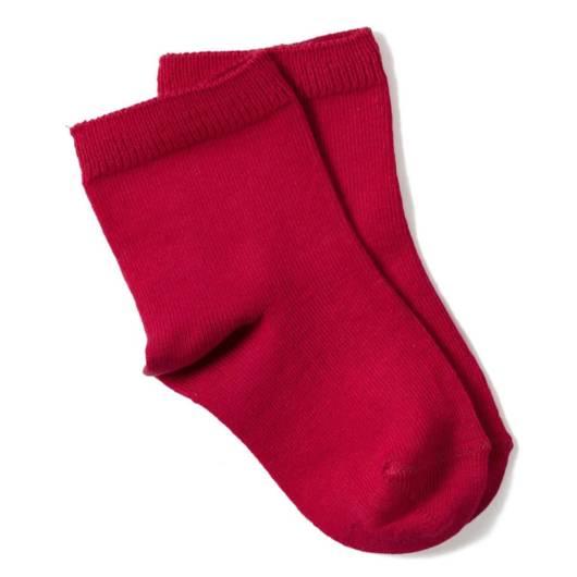 meia para bebê vermelha