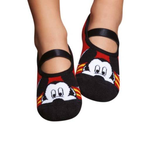 Meia sapatilha para bebês com estampa do Mickey