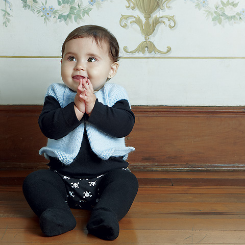 Meia calça preta para bebês