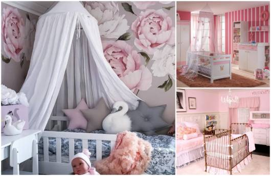 Quartos de bebê rosa
