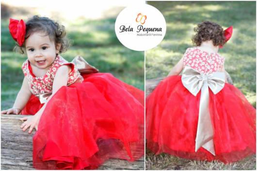 vestido 1 ano vermelho