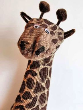 fantoche de girafa