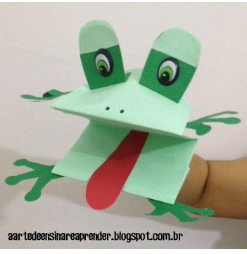 fantoche de dobradura de papel