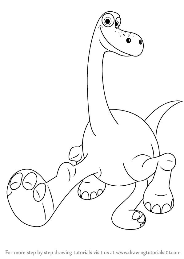 Desenho de O Bom Dinossauro para colorir