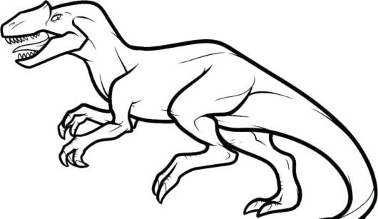 Desenho de dinossauro Rex para colorir