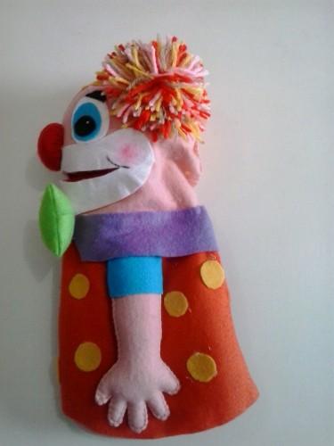 fantoche de feltro de palhacinho