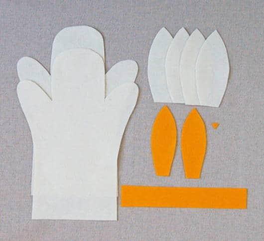 Como fazer o fantoche de feltro de coelho
