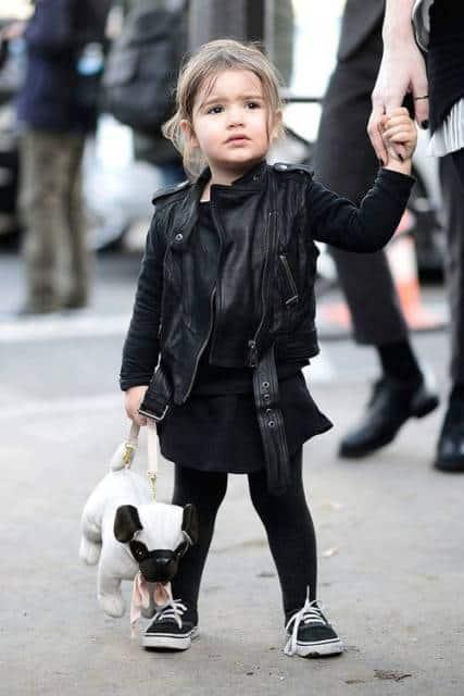 jaqueta de couro para bebê
