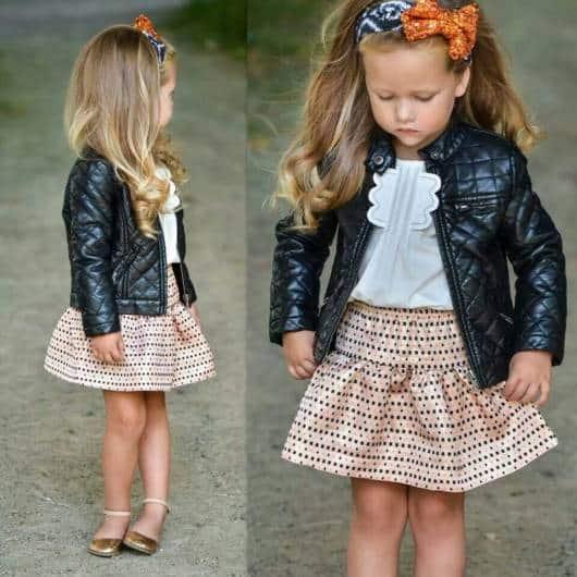 jaqueta de couro para crianças