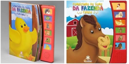 livros com sons da fazenda