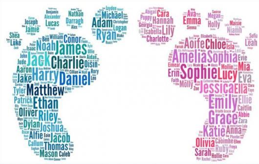 nomes de bebês diferentes