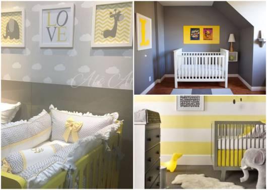 Modelos de quarto de bebê cinza