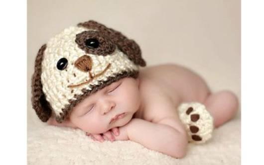 Touca de bichinho para bebê