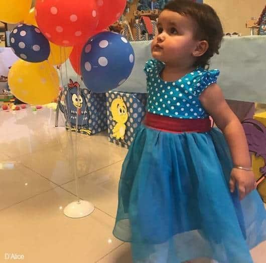 vestido aniversário temático