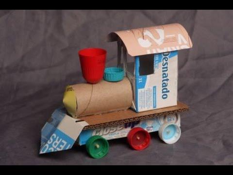 Brinquedo de sucata: trem