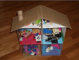 casinha de bonecas de papelão
