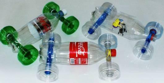 carrinho de garrafa pet