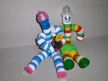 bonecos feitos com tampinha
