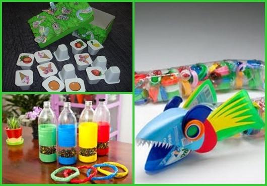 Brinquedo de sucata: inspirações