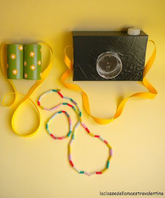 Brinquedo de sucata: máquina fotográfica de papel