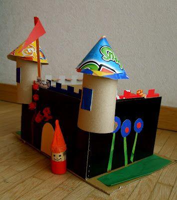 Brinquedo de sucata: castelo de papel