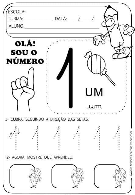 Matemática para crianças: exercícios