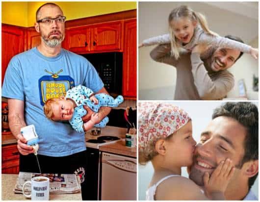 Pais e seus filhos pequenos