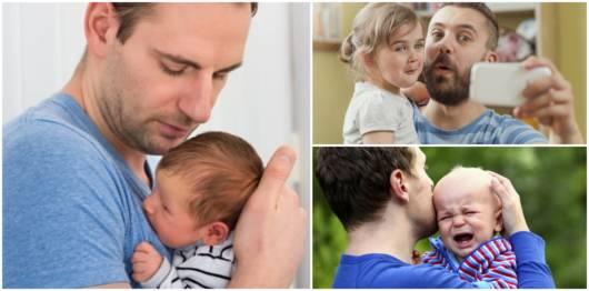 Pais cuidando de seus filhos