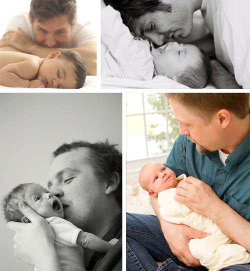 Pais com seus bebês