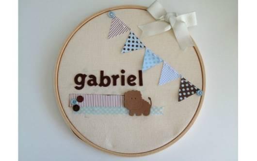 Quadros para quarto de bebê masculino com nome