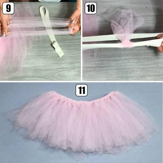 como fazer uma saia de tule