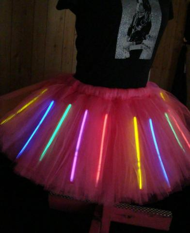 saia decorada com luzes de led