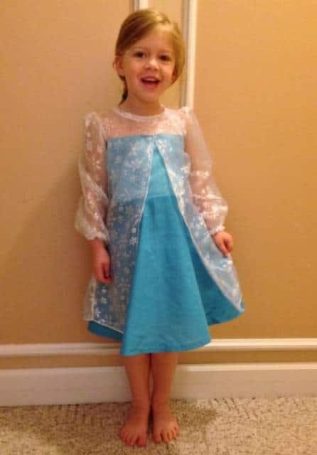 Vestido da frozen: simples