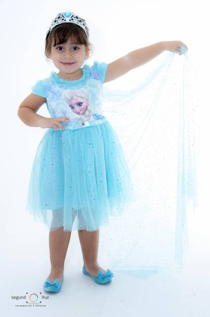 Vestido da frozen: simples com estampa