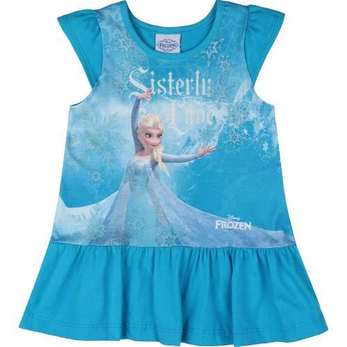 Vestido da frozen: simples curto